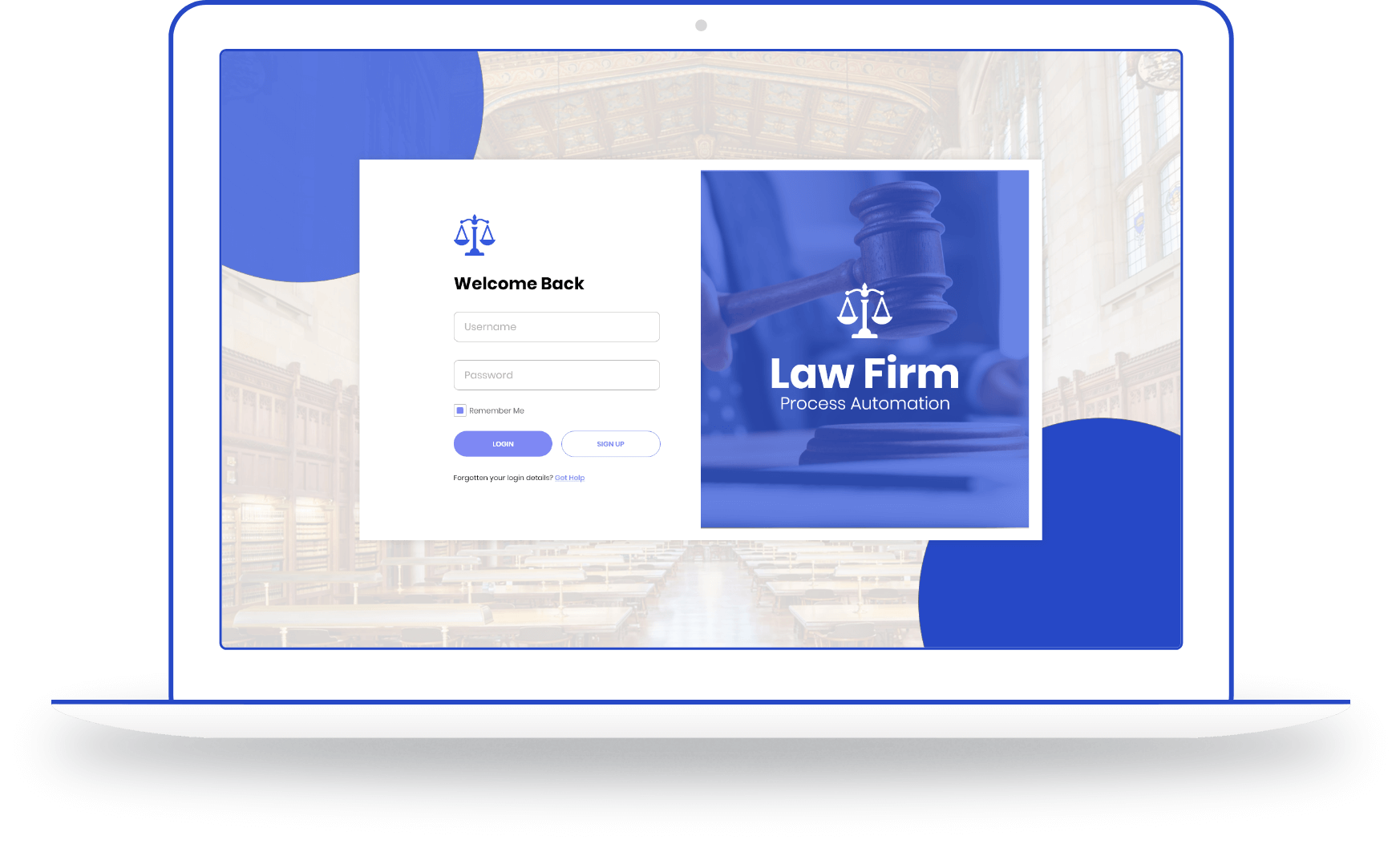 Law Firm Process Automation Laptop Mockup